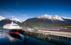 The Disney Wonder in Skagway