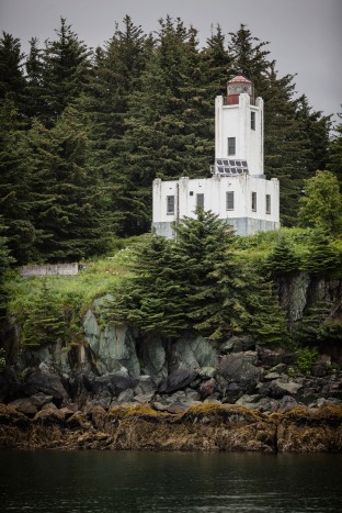 The old lighthouse near Ketchikan
