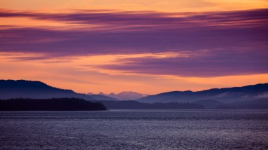 Sunset in the Inside Passage