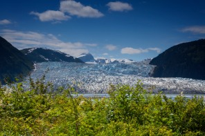 Taku glacier from Taku lodge