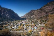 A small mountain town