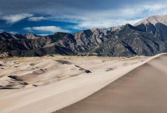 Dunes and mountains