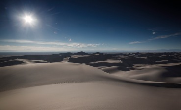 At the top of the highest dune @ 9000ft