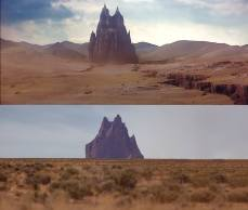 OK - So you can't tell me that this isn't the black fortress from Krull - top is a shot from the movie, bottom is a photo I took. I mean come on...