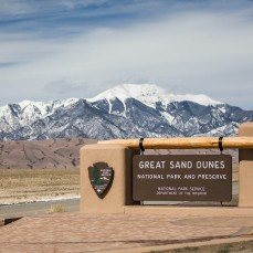 Great Sand Dunes National Park... taken on the way back after having failed to hike to the top of the highest dune. It was just too darn cold.... and too darn high... plus I did it last time.