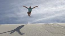 Having a zen moment at White Sands
