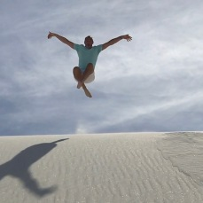 Having a zen moment at White Sands
